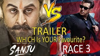 SANJU Trailer Vs RACE 3 Trailer I Which Is Your Favourite?