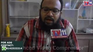FAROOQ PRESS MEET ON MUSLIM RESERVATIONS TV11 NEWS 11TH APR 2017