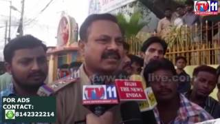 FIRE ACCIDENT AT COOLER GODOWN HABEEBNAGAR TV11 NEWS 12TH APR 2017