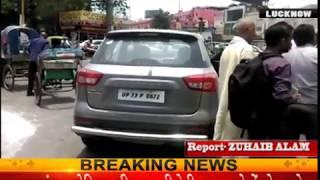 लखनऊ: हजरतगंज चौराहे पर गाड़ी चालक की गुंडई