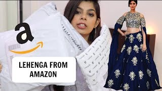 I bought 3 LEHENGAs from AMAZON! | TRY ON - HAUL & REVIEW