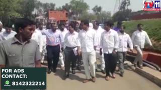 MINISTER KTR  SUDDEN VISIT TO THE INDUSTRIAL AREAS AT KUTHBULLAPUR TV11 NEWS 15TH APR 2017