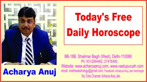 01 June 2018, Friday, Astrology, Daily Free Astrology Predictions, Daily Horoscope, Forecast by Acharya Anuj Jain.