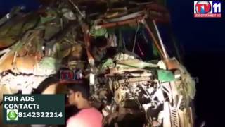 TRUCK DRIVERS INJURED  IN ACCIDENT AT ANANTHPUR TV11 NEWS 19TH APR 2017