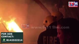 MAJOR FIRE ACCIDENT AT  BHAVANI NAGAR HYDERABAD TV11 NEWS 21ST APR 2017