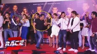 Salman Khan And Race 3 Team Singing And Dancing At RACE 3 Music Launch | Allah Duhai Hai