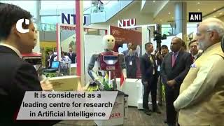 PM Modi attends exhibition at Nanyang Technological University