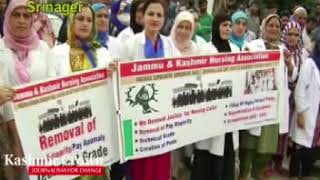 Nurses Association Protest In LD Hospital In favour of Grade and Promotions(VidBy Shuja Baqal