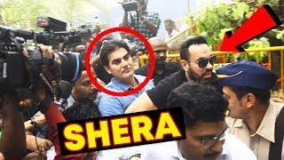 Salman Khan's Bodyguard Shera Protecting Arbaaz Khan At Police Station | IPL Betting Scam