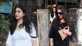 Sara Ali Khan With Mother Amrita Singh Spotted At Juhu