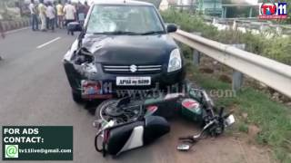 MOTORIST DIED IN ACCIDENT AT KOVVUR TV11 NEWS 9TH MAY 2017
