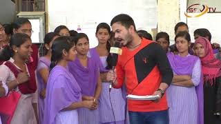 College Campus Highlets Govt first grade womens degree college with anchor Nitin Kattimani SSV TV 2