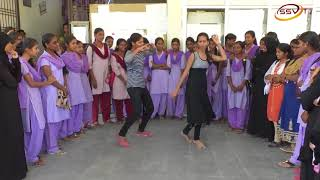 College Campus Highlets Govt first grade womens degree college with anchor Nitin Kattimani SSV TV 3