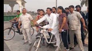 अखिलेश यादव का दूसरा मॉर्निंग वॉक, BJP सरकार पर किया हमला