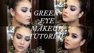 GREEN EYESHADOW LOOK | TARTE | MAKEUP AND FASHION DIARIES