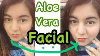 Aloe Vera Facial for Instant Glowing Bright Skin | Summer Skin Care Routine | JSuper Kaur