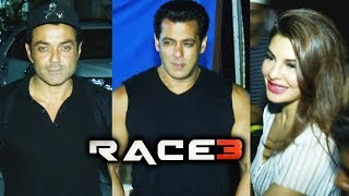 RACE 3 Team At Mehboob Studio For RACE 3 Promotion | Salman Khan, Jacqueline, Bobby Deol
