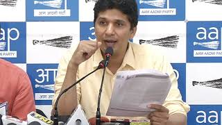 AAP Chief Spokesperson Saurabh Bhardawaj briefs on 3 days special Assembly Session