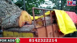 FOREST OFFICERS CAUGHT ILLEGAL FOREST TIMBER AT JEELUGUMILLI WEST GODAVRI TV11 NEWS 2ND JUNE 2017