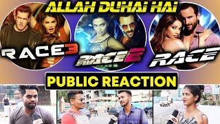 Allah Duhai Hai RACE Vs RACE 2 Vs RACE 3 | Public Reaction | Salman Khan, Jacqueline, Saif Ali Khan