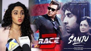 Amruta Khanvilkar Reaction On RACE 3 Vs SANJU | Salman Khan Vs Ranbir Kapoor