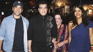 Ekta Kapoor And Family Spotted At Bandra BKC For Dinner | Tusshar Kapoor, Jitendra, Shobha Kapoor