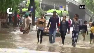 Heavy rain lashes Mumbai leaving streets waterlogged
