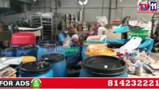 ILLEGAL MIRCHI POWDER &  PICKLES CATCH BY SOT POLICE IN MADHAPUR TV11 NEWS 23RD JUNE 2017
