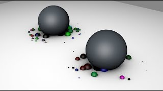 Particles on Collision with Rolling Object in Cinema 4D Tutorial