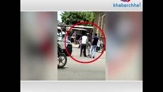 Viral video of police beating one person publicy in Chorvad