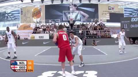 Otar Pertaia dances on his defender at the FIBA 3x3 U18 World Cup 2017