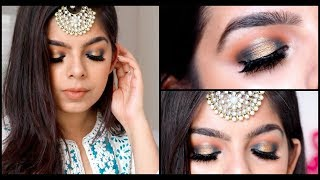 EID 2018 | Green and Gold Halo Eyes | Makeup Tutorial