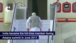 PM Modi emplanes for China to attend SCO Summit