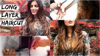 Long Layered Haircut Tutorial For Medium Hair/ How To Cut Layers In Long Hair- All About My Haircut