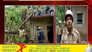 Heavy Rain: Tree Falls On House At Sancoale