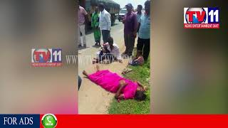 TWO PARSONS INJURED IN COLLISION OF TWO BIKES AT KONAKANCHI, KRISHNA DIST TV11 NEWS 22ND AUG 2017