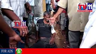 MAJOR ROAD ACCIDENT NARROWLY ESCAPED AT PENDURTHI, VISAKHA TV11 NEWS 24TH AUG 2017