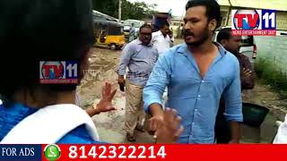 YOUTH CONGRESS LEADER MOIZ FIRE ON GHMC OFFICIALS AT KUKATPALLY, HYD TV11 NEWS 26TH AUG 2017