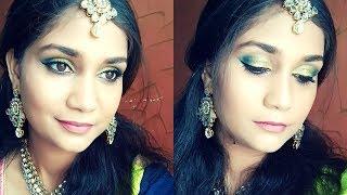 Eid Makeup Look 2018 | Glam Blue & Yellow Glitter Smokey Eyes | Wedding Guest Makeup | Nidhi Katiyar