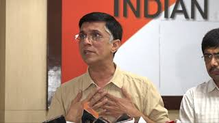 Pawan Khera addresses media at Congress HQ