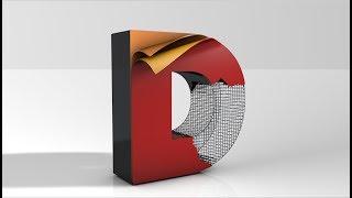 3D Text Design making in Cinema 4D Tutorial