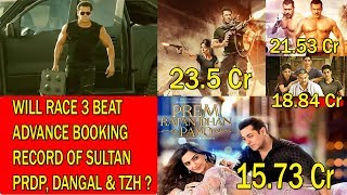 Will RACE 3 Beat Advance Booking Of Tiger Zinda Hai Sultan Dangal PRDP Dhoom 3?