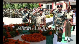 Floral tributes paid to martyred BSF personnel in Jammu