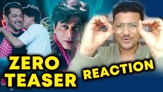 ZERO TEASER REACTION | Shahrukh Khan And Salman Khan BLOCKBUSTER JODI | EID Dhamaka