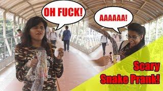 Scary snake prank - Snake in the Box - Mumbai- Virar2Churchgate