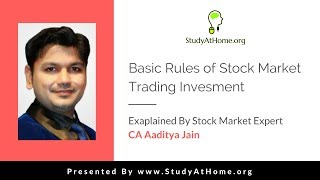 Basic Rules of Stock Market Trading Investment by CA Aaditya Jain