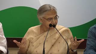 Kejriwal's Sit-In Protest at LG Office: AICC Press Briefing by Sheila Dikshit and Ajay Maken