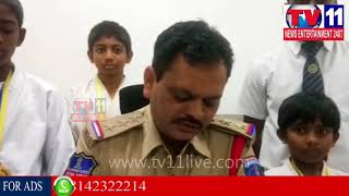 STATE KARATE GOLD MEDALS PRESENTED TO STUDENTS BY CI MEDCHAL   Tv11 News   19-12-2017