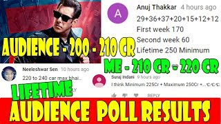 Race 3 Lifetime Collection Audience Poll Results And My Final Prediction
