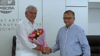 Commerce and Industry Minister CR Chaudhary came to visit Surat